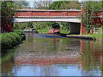 SK0419 : By-pass bridge north of Rugeley in Staffordshire by Roger  Kidd