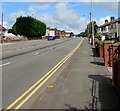 ST3090 : Double yellow lines alongside the A4051 Malpas Road, Newport by Jaggery