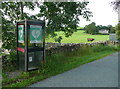 SD6873 : Defibrillator in a telephone kiosk, Thornton-in-Lonsdale by Humphrey Bolton