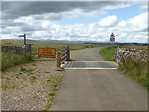 NY6511 : Cattle grid at Linglow Hill by Oliver Dixon