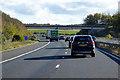 TL4843 : Southbound M11, Grange Road Bridge near Ickleton by David Dixon
