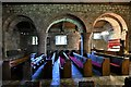 NY2039 : Torpenhow, St. Michael's Church: Nave arches by Michael Garlick