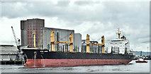 "J3576 : The ""Vega Mars"", Belfast harbour (August 2019) by Albert Bridge"