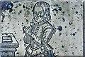 NZ1114 : Wycliffe, St. Mary's Church: Detail of Radulfo Wiclifo (Wycliffe) brass of 1606 by Michael Garlick