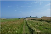 NU2422 : Coastal path on Dunstanstead Links by DS Pugh