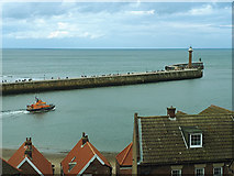 NZ8911 : Lifeboat in Whitby harbour by Stephen Craven