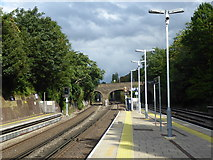 TQ2475 : Looking up the line from Putney station by Marathon