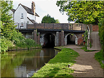 SJ9214 : Penkridge Bridge and Lock in Staffordshire by Roger  Kidd