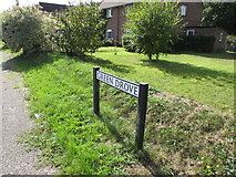 SU1659 : Green Drove name sign south of Pewsey by Jaggery