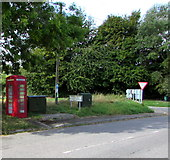 SU1659 : Red box and dark green cabinets, Green Drove near Pewsey by Jaggery