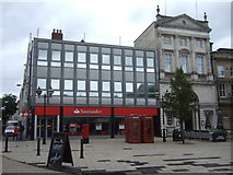 SJ9223 : Santander Bank / Pizza Express on Market Square, Stafford by JThomas