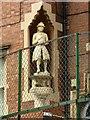 SK5740 : Bluecoat girl statue, former Bluecoat School, Mansfield Road, Nottingham by Alan Murray-Rust