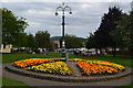 ST7814 : Flower bed at Sturminster Newton by David Martin