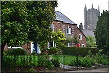 ST6601 : House and church, Cerne Abbas by David Martin