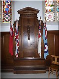 TQ1068 : St Mary, Sunbury-on-Thames: war memorial by Basher Eyre