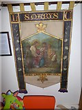 TQ1068 : St Mary, Sunbury-on-Thames: banner by Basher Eyre