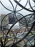 "SP0686 : Birmingham's new library - behind the 'chicken-wire"" by Chris Allen"