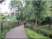 TQ1649 : Bridge over Pipp Brook, Dorking by Malc McDonald