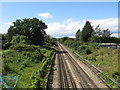TQ4393 : Central Line tracks at Chigwell by Malc McDonald