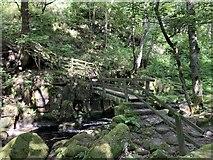 SK2579 : Footbridge over Burbage Brook by Andrew Abbott