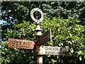 SJ8485 : Old Cheadle & Gatley UDC signpost by Gerald England