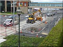 SJ7796 : Tramway construcction by Bob Harvey