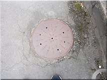 SH5873 : Possible coal hole cover on Garth Road, Bangor by Meirion