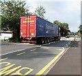 ST3091 : Stan Robinson lorry, Almond Drive, Malpas, Newport by Jaggery