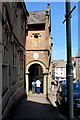 SS9512 : Archway over the Angel Hill pavement, Tiverton by Jaggery