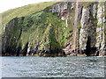 V4598 : Cliff below Carhoo by David Dixon