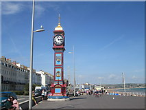 SY6879 : Clock tower, Weymouth esplanade by Peter S