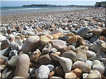 SY6879 : Shingle beach at Weymouth by Peter S
