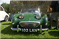 TL7835 : View of an MG Sprite Mk1 in the Hedingham Castle Classic and Vintage Car Show by Robert Lamb