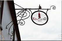 TG0738 : The King's Head (2) - sign, 19 High Street, Holt, Norfolk by P L Chadwick