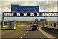 TQ5889 : Sign Gantry over the M25 near to Great Warley by David Dixon