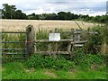 SK2535 : Stile at the start of a closed footpath by Ian Calderwood