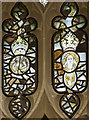 SP1114 : Medieval stained glass detail, Ss Peter & Paul church, Northleach by Julian P Guffogg
