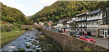 SS7249 : Lynmouth and River Lyn by Chris Morgan