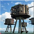 TR0779 : Red Sands Maunsell Fort - Northern Gunnery Towers by Rob Farrow
