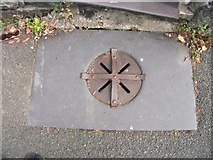 SH5873 : Possible coal hole and cover on Upper Garth Road, Bangor by Meirion