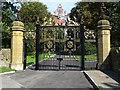 SP0146 : Restored Golden Gates at Wood Norton by Philip Halling