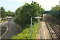 SU8346 : Farnham Business Park and the railway, Farnham by Derek Harper