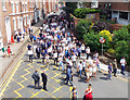 SJ4066 : Visitors arriving at Chester Racecourse by Jeff Buck