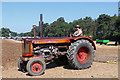 SJ4412 : Shrewsbury Steam Rally - tractor demonstration by Chris Allen