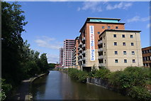 SK5804 : The River Soar, Leicester City Centre by Tim Heaton