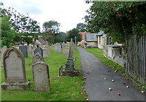 SK9324 : Churchyard of St John the Baptist in Colsterworth by Mat Fascione