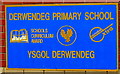 ST1496 : Village school bilingual name sign, Cefn Hengoed by Jaggery