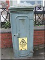 SH5872 : Old electrical cabinet on Beach Road, Bangor by Meirion