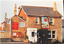 ST8080 : The Fox & Hounds Pub, Acton Turville, Gloucestershire 1988 by Ray Bird