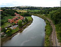 NZ8909 : Railway along the River Esk, Whitby by Mat Fascione